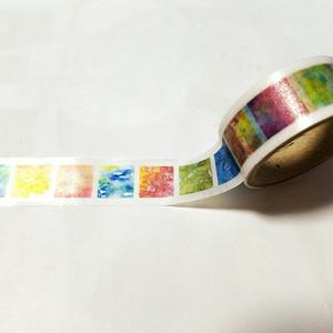 透明水彩柄マスキングテープ