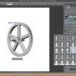 2段歯車イメージ素材
