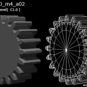 歯車(20枚歯)の3D素材