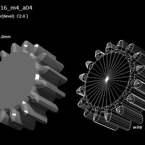 歯車(16枚歯)の3D素材