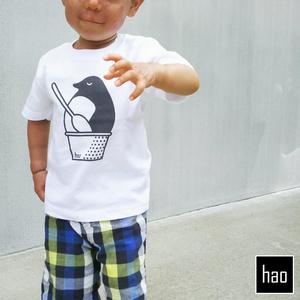 おいしいペンギンのキッズTシャツ90サイズ