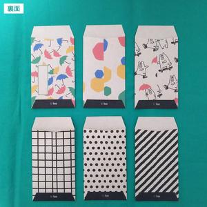 クラフト紙ポチ袋(カラフル、動物)