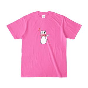 シュシュネコTシャツ(濃色・ピンク)