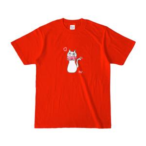 シュシュネコTシャツ(濃色・レッド)