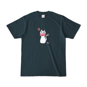 シュシュネコTシャツ(濃色・デニム)