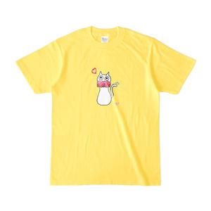 シュシュネコTシャツ(濃色・イエロー)