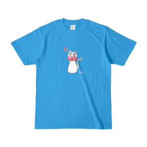 シュシュネコTシャツ(濃色・ターコイズ)