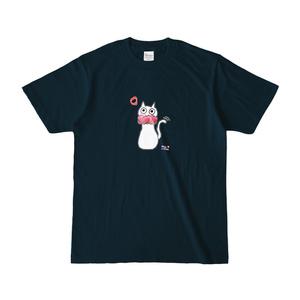 シュシュネコTシャツ(濃色・ネイビー)