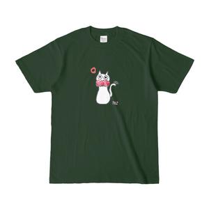 シュシュネコTシャツ(濃色・フォレスト)