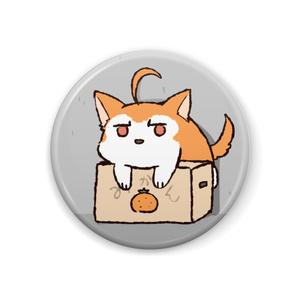 ちるふ缶バッジ(みかんが好きなオオカミ)