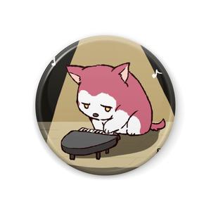 ちるふ缶バッジ(ピアノが得意なオオカミ)