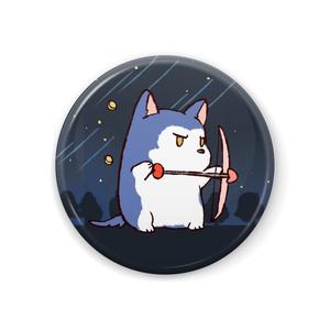 ちるふ缶バッジ(ハートを打ち抜くオオカミ)