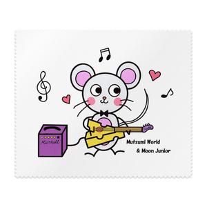 Mutsumi World & Moon Junior メガネ拭き ネズミ柄