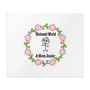 Mutsumi World & Moon Junior ロゴ® メガネ拭き