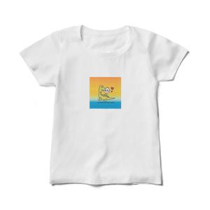 Mutsumi World & Moon Junior Tシャツ 草食恐竜柄
