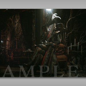 Cosplay Photo Poster【Bloodborne/時計塔のマリア】
