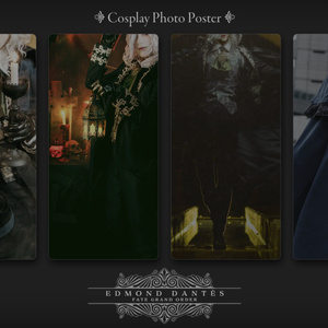 Cosplay Photo Poster【FGO/巌窟王】