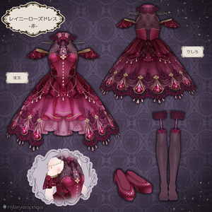 レイニーローズドレス(VRoid用衣装)