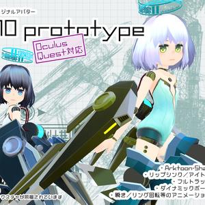 【PC版ver.1.0&Quest版ver.1.4】U10prototype/オリジナル3Dモデル【VRChat想定】