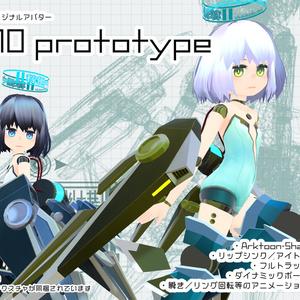 【ver.1.0】U10prototype/オリジナル3Dモデル【VRChat想定】