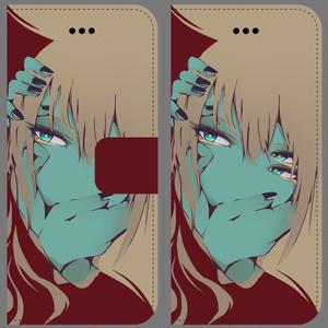 黄衣ちゃんiPhoneケース:青