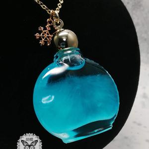 「月凍る アクアマリン色」 アンタークチサイトもどきネックレス