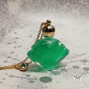 「流氷の囁き エメラルド色」アンタークチサイトもどきのネックレス