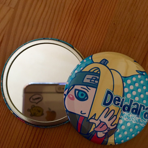 【NARUTO】デイダラ 缶ミラー 57㎜サイズ(ソフトケース付)