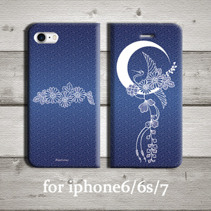 【刀剣乱舞】三日月☓鶴丸イメージ iphone用ケース/手帳型