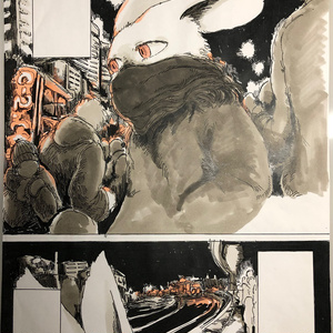 『Paradise Lost』2017年 マンガ原画作品