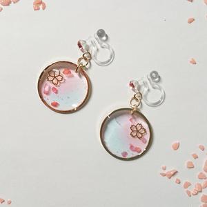 桜のノンホールピアス