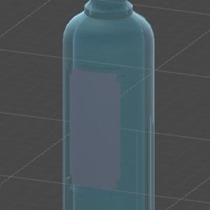 3Dモデル「おしゃれな瓶」v1.00