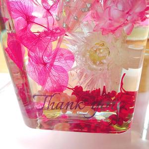 ピンクハーバリウム ウィスキー型ボトル