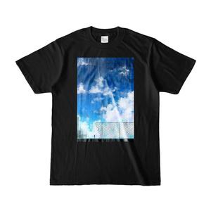 青空とフェンスTシャツ(黒)