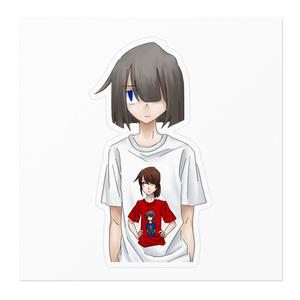 Tシャツの中のTシャツステッカー