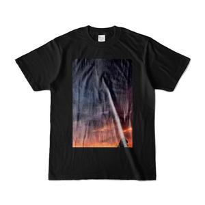 こんな夜明けなどTシャツ(キャラ有り・黒)