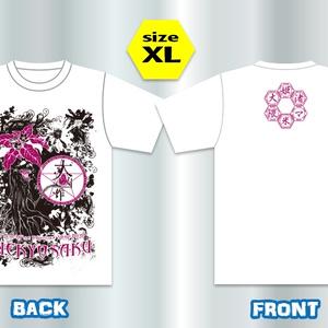 華とマンドレイクとひよこTシャツ【白/XL】