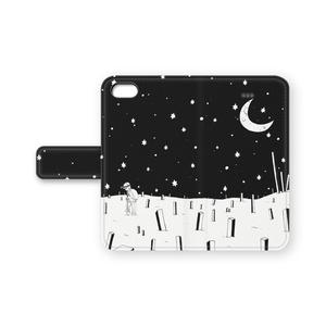 星埋め 手帳型iPhoneケース