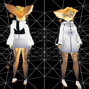 VRC想定3Dモデル/クロイチャンMP