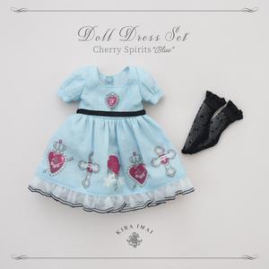 "Cherry Spirits""Blue ドールドレスセット"