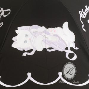 【SALE】折りたたみパゴダ傘[Chaton au Ballet]ブラック