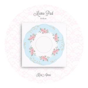 メモパッド[Rose Dish Blue]