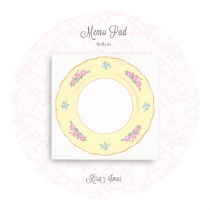 メモパッド[Rose Dish Yellow]