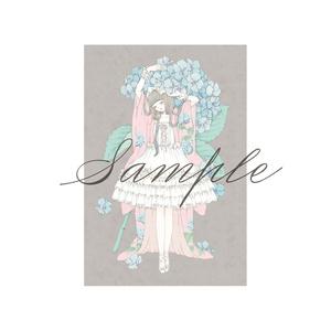 ポストカード[紫陽花のドレス]