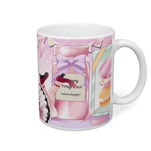 桃色メイドちゃんマグカップ