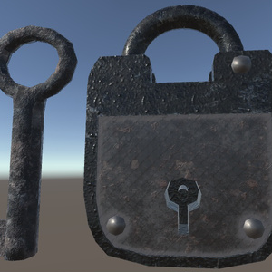 Antique Padlock(△1210)