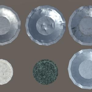 卓上灰皿(A:△356、B:△466、C:△464)