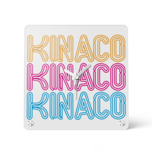 KINACOネオンサインアクリル時計