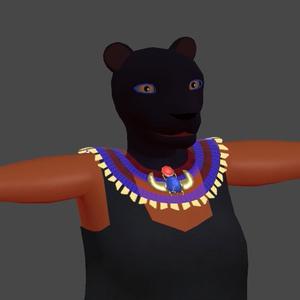 エジプト風獣系 3Dモデル「Pasht」 v0.9a