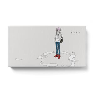 白いオオサンショウウオのモバイルバッテリー